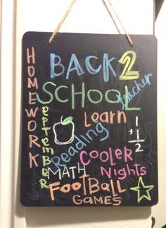 September chalk art