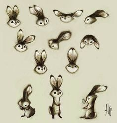 Bunnies by Heather  I think I've passed out from the cuteness.