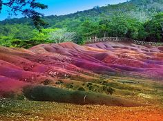 Chamarel- seven color lands.Main sight of Mauritius. Main sight of Mauritius- Ch , Places To Travel, Places To See, Travel Destinations, Adventure Tours, Adventure Travel, Travel Around The World, Around The Worlds, Destination Voyage, Romantic Travel