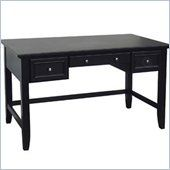 Home Styles Furniture Bedford Executive Home Office Writing Desk in Ebony