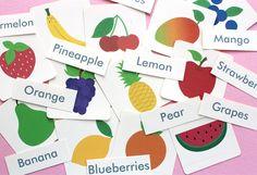 Free Printable: Fruit Flash Cards and Matching Cards   Mockeri
