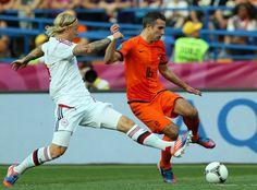 Netherlands - Denmark S. Kjaer & R. Robin Van, Van Persie, Denmark, Netherlands, Soccer, Running, Sports, The Nederlands, Hs Sports