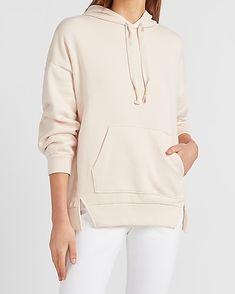 How much do you love this? I found it at Express! Fleece Hoodie Women, Fleece Lined Hoodie, Closet Renovation, Women's Sweatshirts, Hoodies, Satin, Plus Size, Pitch, Cloud