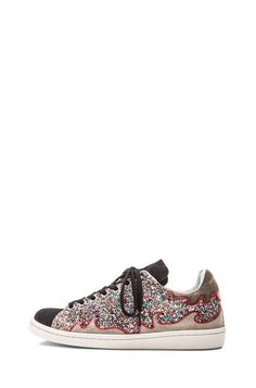 To die for: Isabel Marant Gilly Cholita Velvet leather wedge sneakers