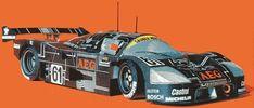 1988 Sauber Mercedes C9 Race Car Free Vehicle Paper Model Download
