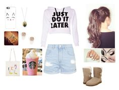 """starbucks break"" by creepy-ladybug ❤ liked on Polyvore featuring Casetify, UGG Australia, Topshop and Snö Of Sweden"