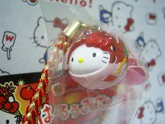 GOTOCHI HELLO KITTY Kawaii Mascot Strap Gold Fish Nebuta AOMORI Japan Sanrio 05'