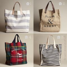 Tote-tally functional fashion.  For work, gym, school, groceries or dog outings . 1. Cotton canvas with light leather straps 2. Jute with dark leather straps 3. Herringbone-woven  cotton with light leather straps 4. Tartan with navy canvas straps. In store now!  #gingerandbear #sniffoutsomethingspecial #designfordogs #dogmeetsdesign #dogculture #stylishdog #stylishdogsg #clubpetsmag #petsmagazinesg #buzzfeed #petexposg
