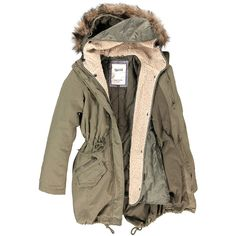 Isabella Parka ($225) ❤ liked on Polyvore featuring outerwear, coats, jackets, tops, brown parka, parka coats, checked coat, denim coat and denim parka