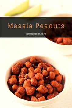 Learn how to make tasty and spicy Masala Peanuts at home. This best selling Indian snack will be a sure hit among family and friends as the perfect snack or appetizer. You can also watch the detailed recipe video for step-by-step instructions. Easy Snacks, Yummy Snacks, Delicious Desserts, Yummy Food, Tasty, North Indian Recipes, Indian Food Recipes, Dog Food Recipes, Vegetarian Recipes