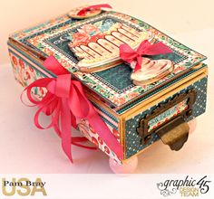 Graphic 45 Café Parisian Gift Box and Card by Pam Bray Photo 1_3974
