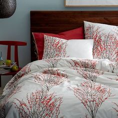 Organic Cotton Sakura Duvet Cover + Shams #westelm @Rachel Billiet ..nothing like what you suggested but I thought it was kinda cool.