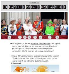 [Anglais] La famille royale britannique (repères culturels et lexique de la famille)   MA MAITRESSE DE CM1-CM2