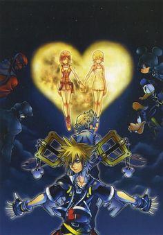 Along side the release of Kingdom Hearts comes a guide dubbed Kingdom Hearts Memorial Ultimania. Inside, Tetsuya Nomura talks about Kingdom Hearts III. Kingdom Hearts Ii, Kingdom Hearts Collection, Kingdom Hearts Fanart, Anime Manga, Anime Art, Tetsuya Nomura, Heart Poster, Kindom Hearts, Disney Magic Kingdom