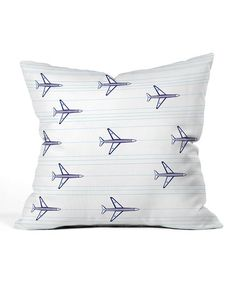 Look what I found on #zulily! Airplanes & Stripes Throw Pillow #zulilyfinds