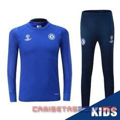 Camisetas de fútbol baratas 2016 2017 €14.9!!| Chandal niño Champions Conjunto Chelsea 2017 Azul €45
