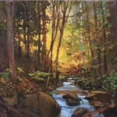 "Jan Schmuckal - Light In The Woods - 12""x 12"" - Original Oil - Grove Park Inn Arts & Crafts Conference - Asheville, NC"