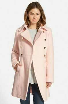 I would love either this pink or the wine color. Love this coat! (Size: Medium Petite) GUESS Double Breasted Bouclé Cutaway Coat (Regular & Petite) available at Cutaway, Nordstrom Coats, Boucle Coat, Nordstrom Anniversary Sale, Double Breasted Coat, Gilmore Girls, Lorelai Gilmore, Military Fashion, Outfits