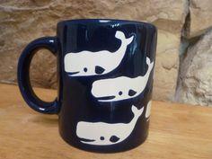 Vintage Waechtersbach Whale mug Navy Blue and White. $4.99, via Etsy.