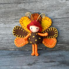 Turkey Bug Tiny Bendy doll by dreamalittle7 on Etsy