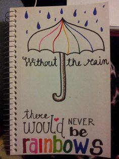 drawings quotes easy drawing sad draw quote doodle rainbow something pencil rain dibujos journal anime bit tegninger citater bulletin triste