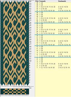 20 tarjetas, 2 colores, repite cada 6 movimientos // sed_417 diseñado en GTT༺❁