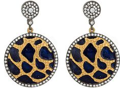 Kanupriya Leopard-Disc Drop Earrings