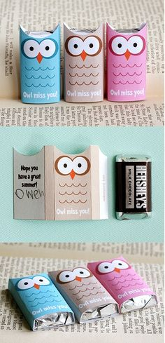 "This would make a cute Valentine as well, ""Owl be your Valentine"""