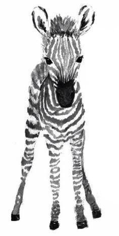 Cute baby zebra tattoo design