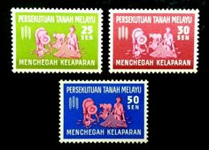 Malaysia Freedom from Hunger 1963 Fishing Farming Agriculture Stamp MNH RARE | eBay