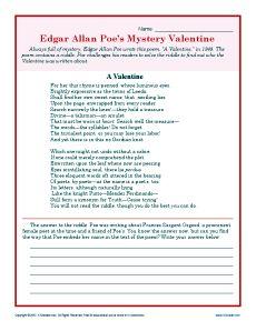 Valentineu0027s Day Worksheet