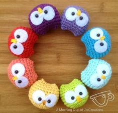 #Free Pattern; crochet; baby owl ornament  ~~