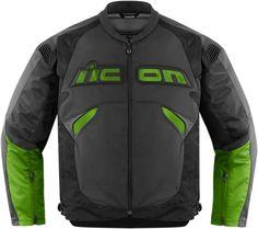 Jacheta ICON textila Sanctuary negru cu verde  http://moto-gear.ro/jacheta-moto-icon-sanctuary-verde-sm-produs-194712.html