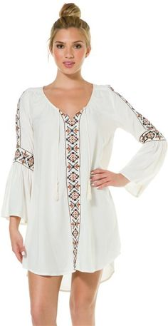 Billabong Stone Melody Embroidered bohemian dress #boho http://www.swell.com/Womens-Dresses/BILLABONG-STONE-MELODY-EMBROIDERED-DRESS?cs=OF
