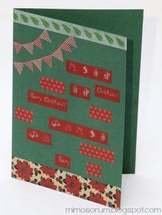 MIMOSORUM : Tarjetas de Navidad con Washi Tape II - Christmas Cards with washi tape II