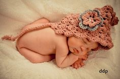 Crocheted Pixie Hat Hood Elf Gnome by iaFlowerPower on Etsy, $20.00