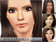 Pralinesims' Nina Dobrev (Vampire Diaries, Elena)