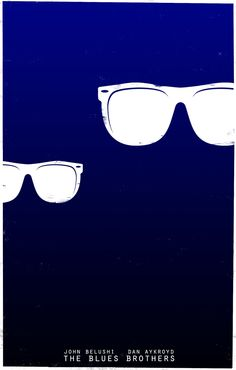 """Minimalist Movie Poster   """"The Blues Brothers"""" (1980)"""