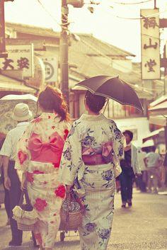 Yukata Girls in Higashiyama - Kyoto