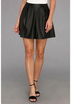 Tart - Evangeline Faux Leather Skirt (Black) - Apparel on shopstyle.com #leatherskirt #skirt # leather #loveit