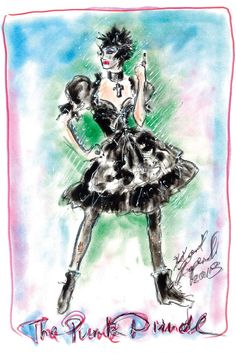 Dirndl 2013 by Karl Lagerfeld Couture Punk