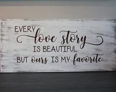 Every love story is beautiful :) Available in different finishes. Create Yourself, Finding Yourself, Beautiful Love Stories, Handmade Wooden, Serendipity, First Names, Wooden Signs, Love Story, Etsy Seller