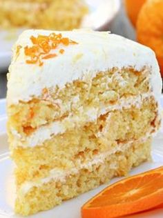 Easy Pineapple Orange Layer Cake with Pineapple Whipped Frosting Recipe | Let's Dish
