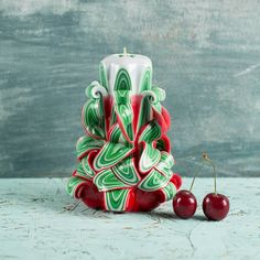 Christmas candles, Carved candles, Christmas tree candles, Christmas gift ideas for parents, Christmas gifts, Christmas decorations, Candle