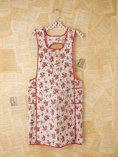 vintage apron. It looks just like my grandma's apron. :)