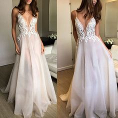 2018 fashions Prom dresses Formal Dress ivory lace Prom Dresses Sexy Summer organza Evening Gowns