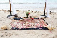 Beach Mayan Wedding Ceremony Setup by @weddingsrivieramaya at Soliman Bay, Mexico. Jonathan Cossu Photographer