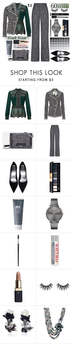 """darlene"" by moodboardsbyluna ❤ liked on Polyvore featuring Miss Selfridge, Veronica Beard, JustFab, Theory, John Lewis, Rebecca Minkoff, Burt's Bees, Clé de Peau Beauté, Ranjana Khan and Anne Klein"