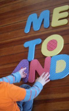 Using the Alphabet Floor Mat to Spell Sight Words! Cool ideas