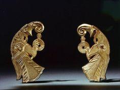 Odin's birds, harness mounts from Vallstenarum, Gotland, 7th century, Historiska Museum, Stockholm